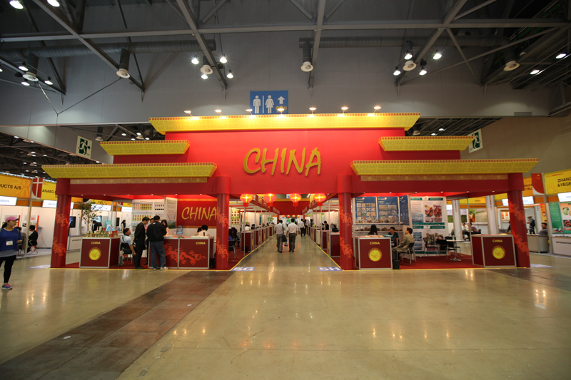 This is a picture from booth of China which participated in international pavilion in Seoul Food 2013.